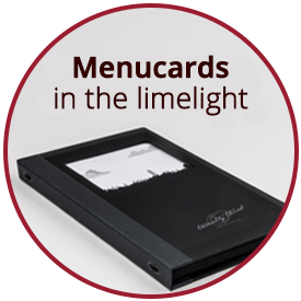 Menucards in the spotlight