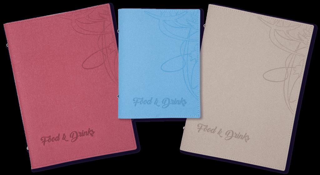 Coronaproof menukaarten TwoTone - diverse kleuren