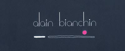 Menukaarten Alain Bianchin