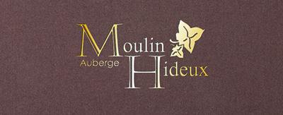 Menukaarten Auberge Moulin Hideux