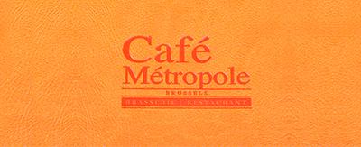 Menukaarten Café Métropole