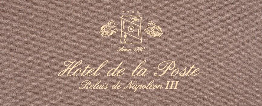 Menukaart Hotel De La Poste