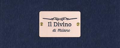 Menukaarten Il Divino di Milano