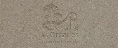Menukaarten Le Pré des Oréades