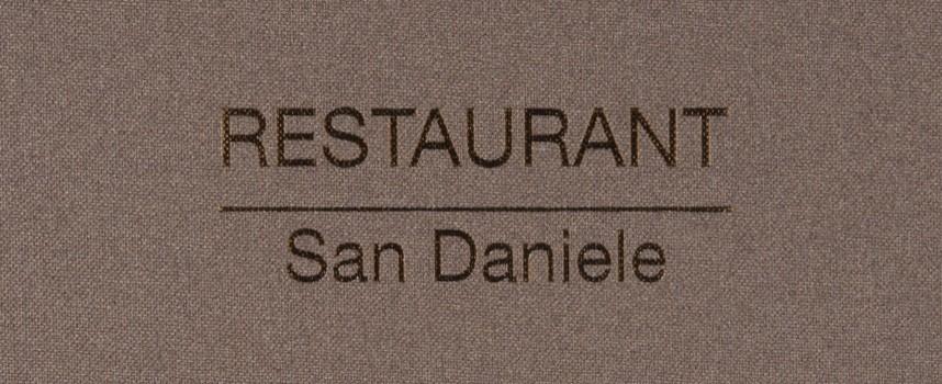 Menukaarten San Daniele