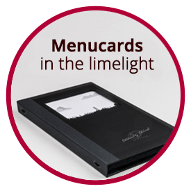 Menucards in the limelight