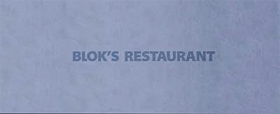 Menukaarten Blok's restaurant
