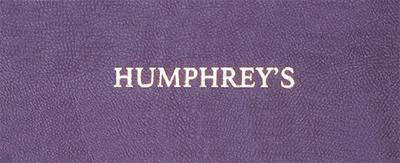 Menukaarten Humphrey's