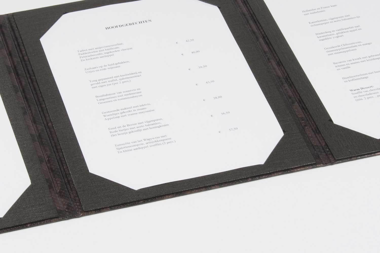 menumappen met hoekstansingen